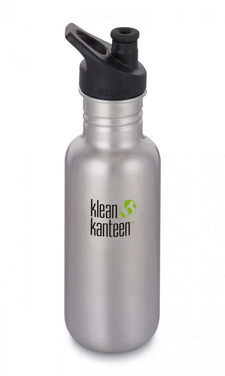 Klean Kanteen Classic Sport 532ml Brushed Stainless - Silber
