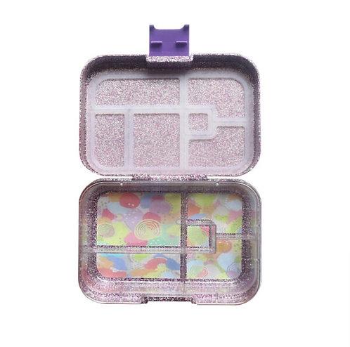 Munchbox Glitzer Violett mit 5 Unterteilungen