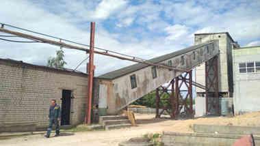Бетоно-смесительный узел с галереей подачи инертных материалов в г. Гродно, Скидельское шоссе, 26