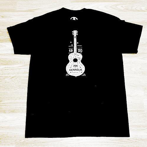 "T-Shirt ""Folk Guitar"", Black"