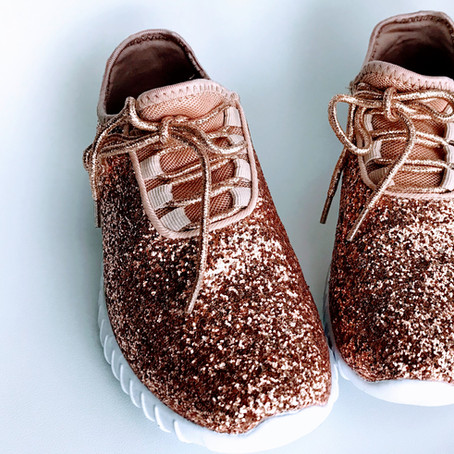 My Favorite Things: Rose Gold Glitter Shoes