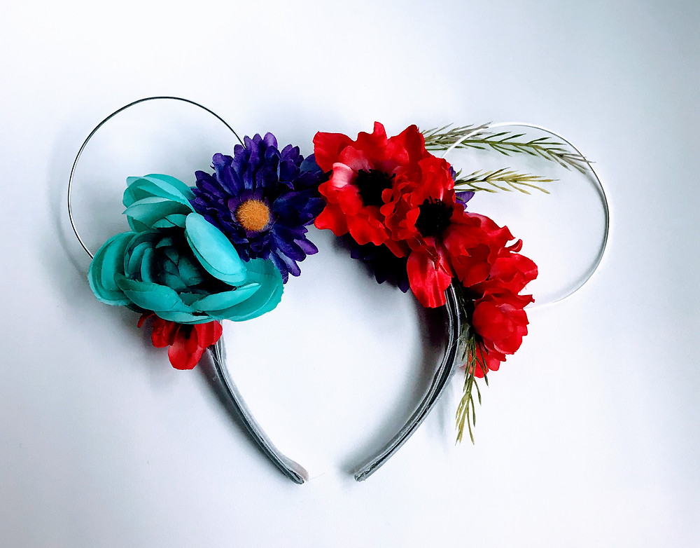 Wire Floral Minnie Mouse Ears