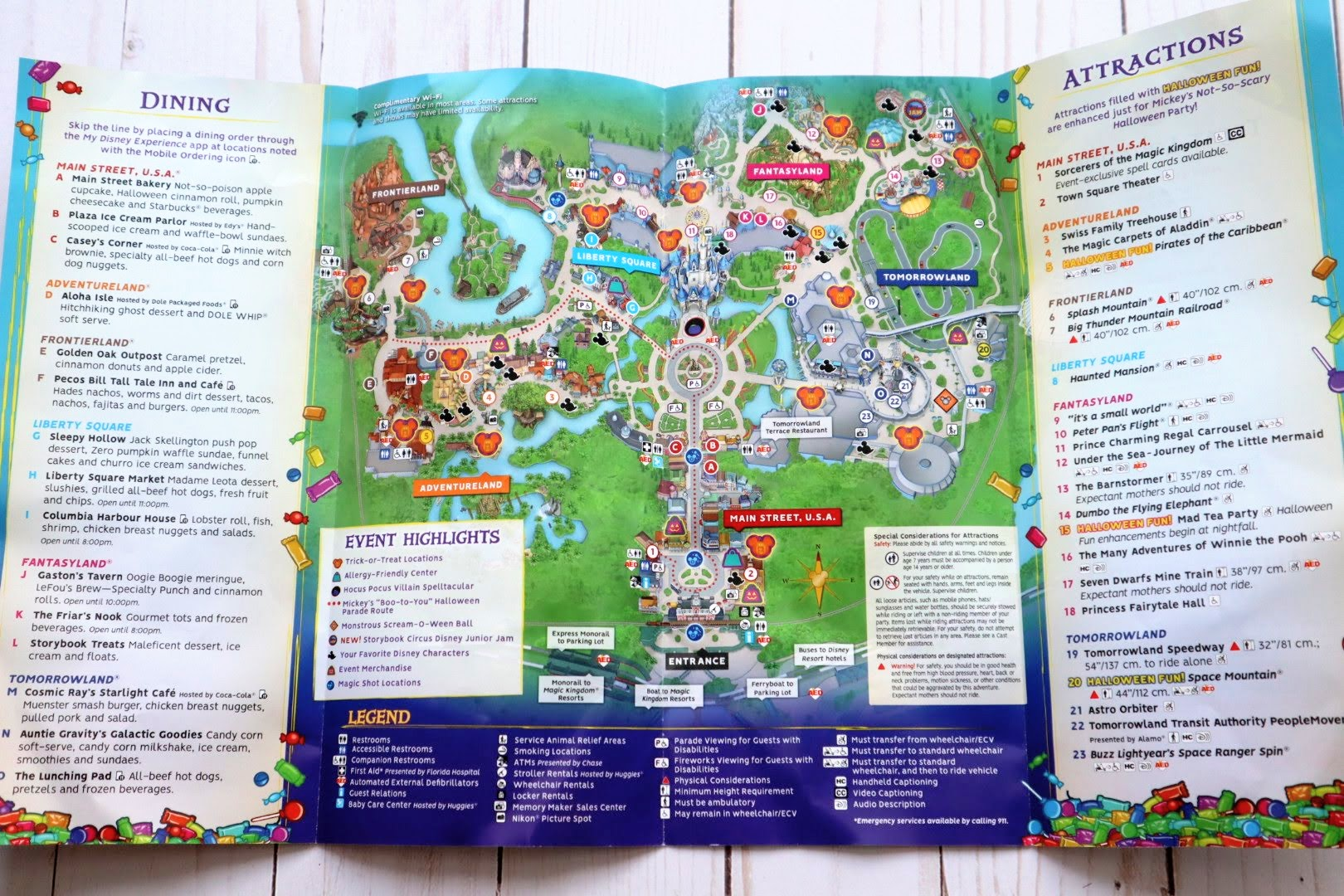 Attractions, Food, and More