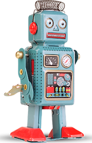 Toy Blue Robot