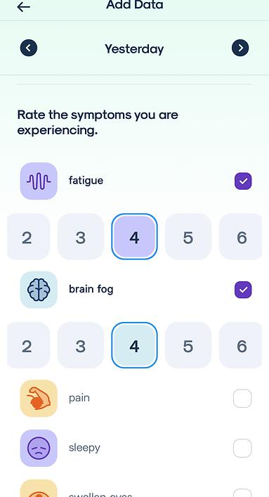 Individual Symptom Ratings