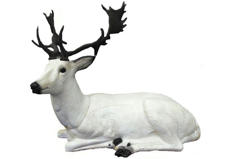 WHITE DEER BEDDED - GROUP 2 - L110cm H62cm