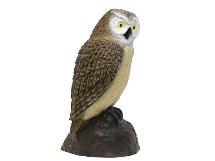 OWL SCREECH BROWN - GROUP 4 - L23cm H40cm