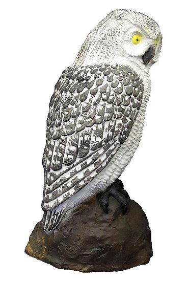 OWL SCREECH WHITE - GROUP 4 - L23cm H40cm