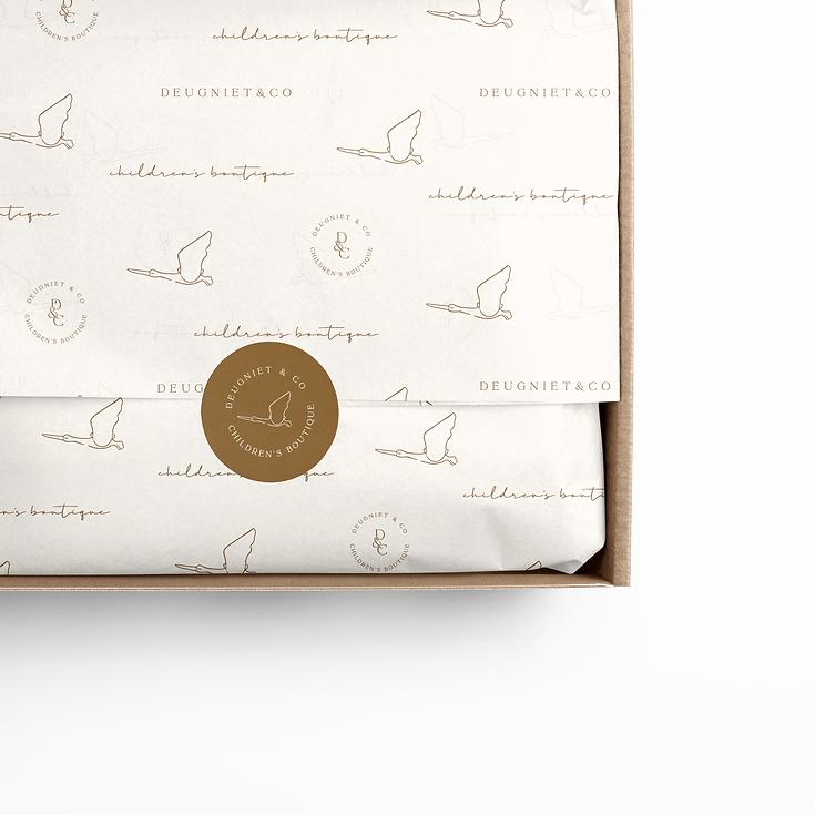 tissue paper - logo ontwerp - deugniet en co - logo deugniet en co - branding deugniet - branding deugniet en co - branding kinderwinkel - vloeipapier ontwerp