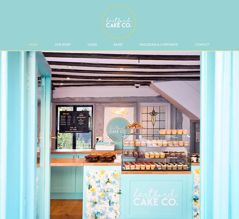 cake shop website design | website design | Hertfordshire