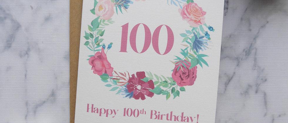 Birthday Card for Her, Floral Birthday Card, Pretty Birthday Card, Any Age, Milestone Birthday Card, Happy Birthday Card
