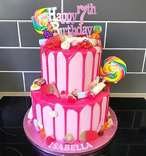sweetie overload tiered cake