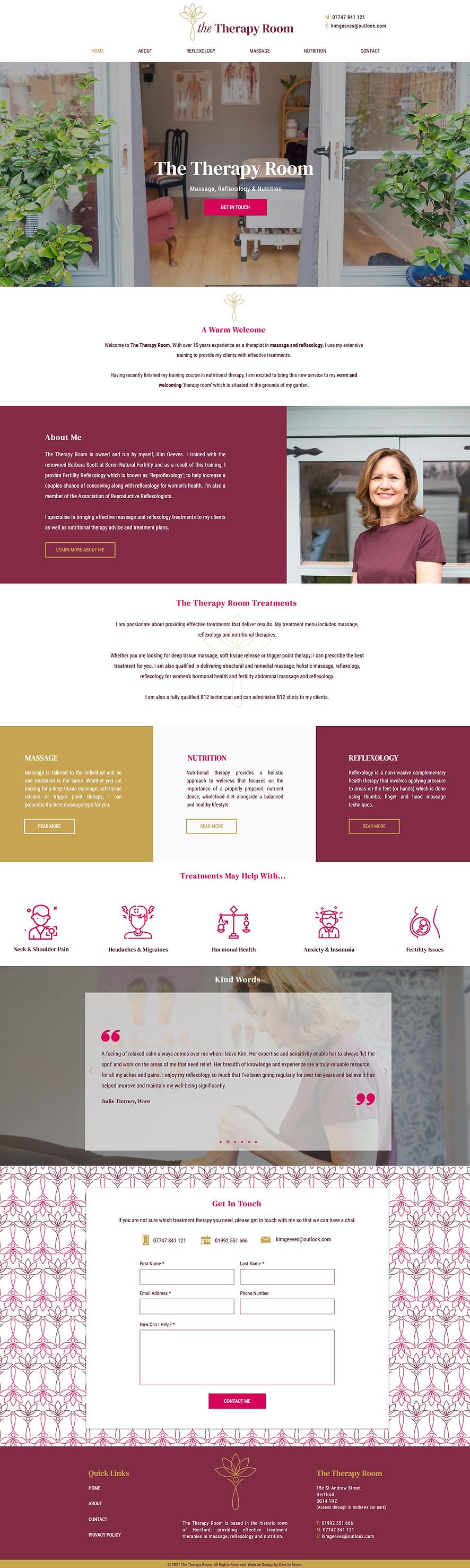 Reflexologist Website Design