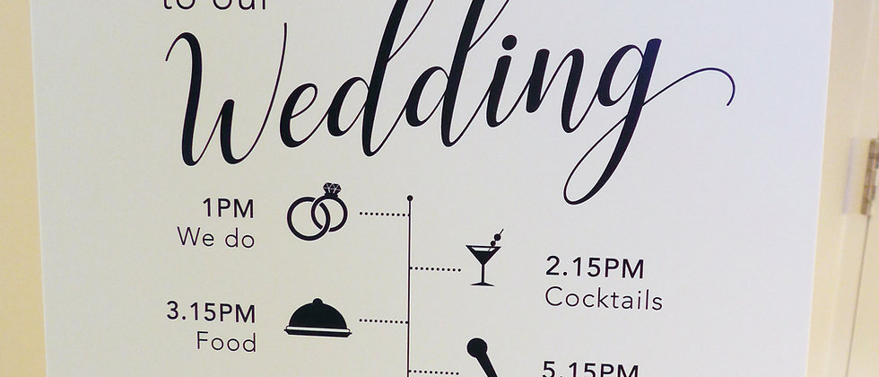 Clare Table Plan/Welcome Sign