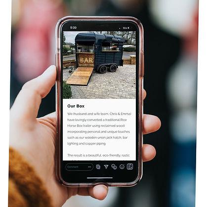Mobile Bar Website Design