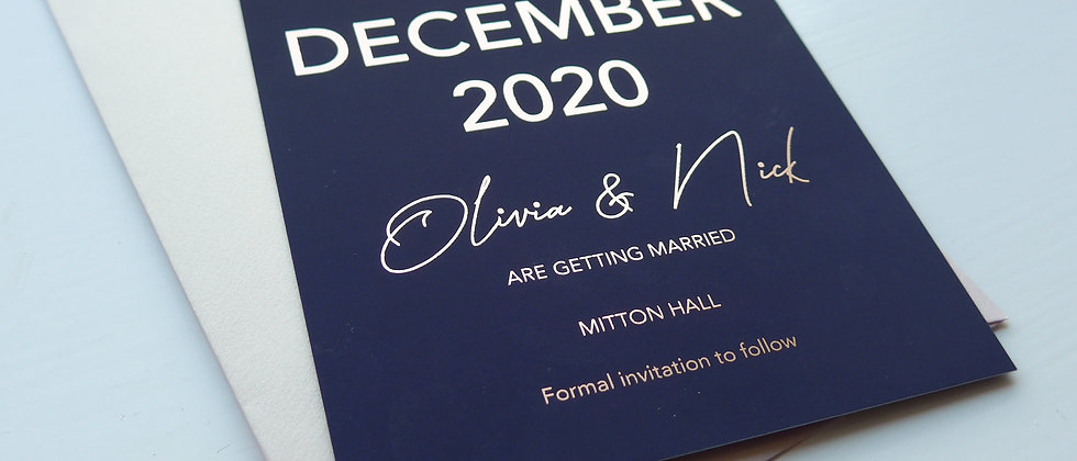 Foil Save the Date