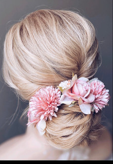 natural updo for wedding