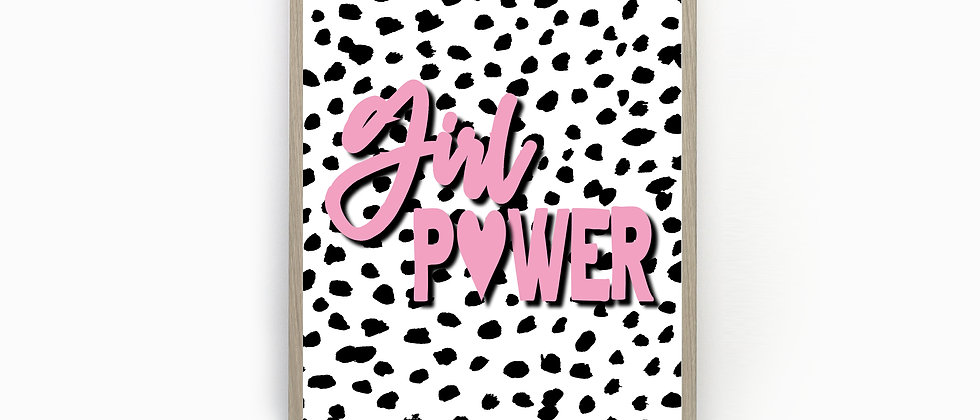 Girl Power Dalmatian Spot Print