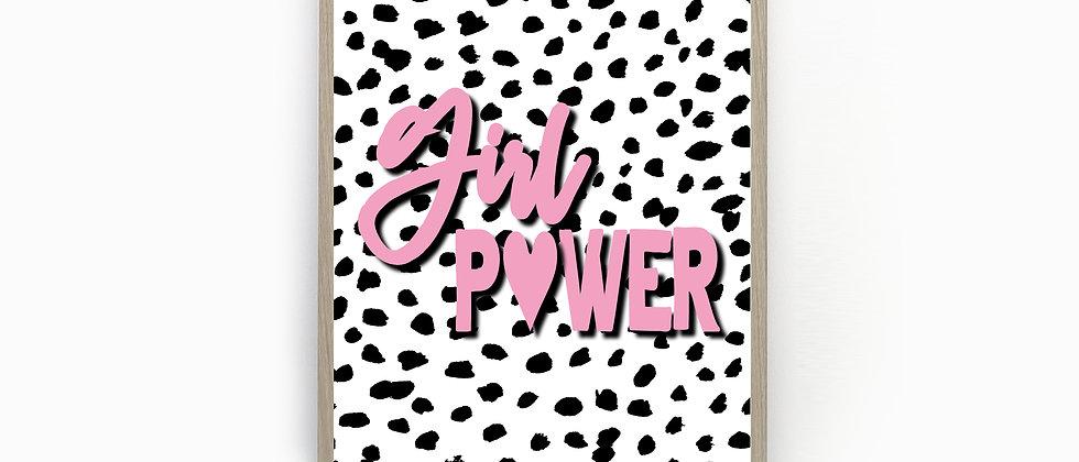 Girl Power Dalmatian Spot Print