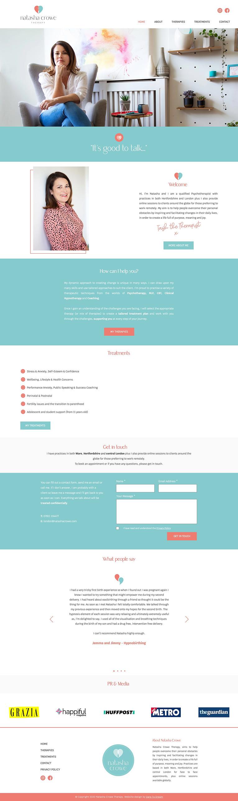 therapist website design | website design | Hertfordshire