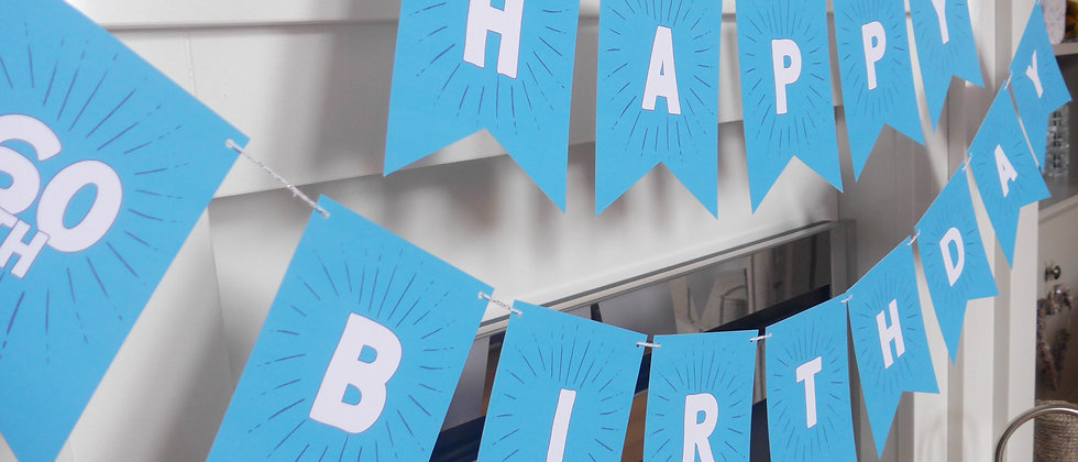 Personalised Age Happy Birthday Bunting