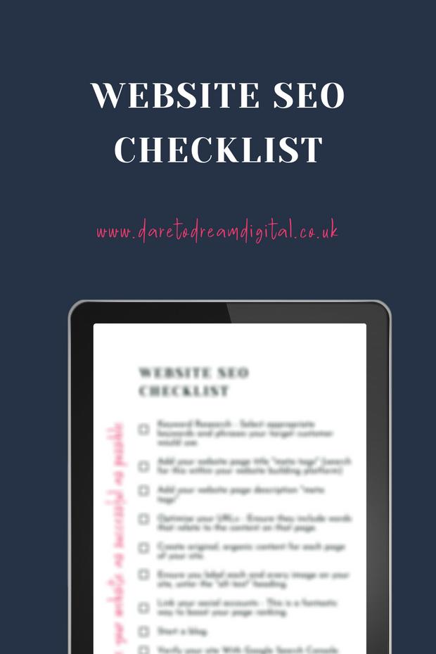 Website SEO Checklist | Website Design