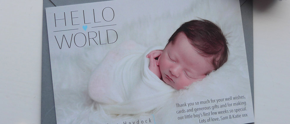 New Baby Thank You Cards