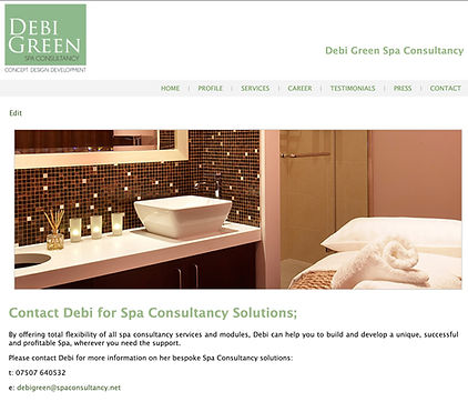 Spa Consultant Website _ Brand Marketing
