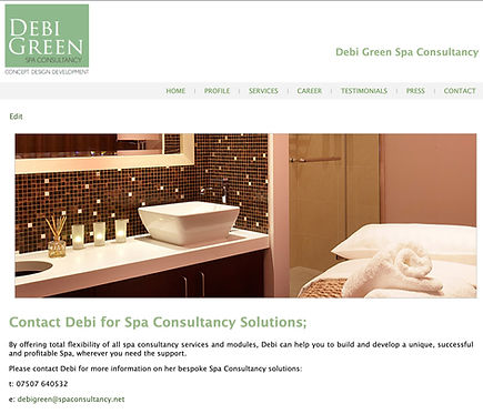 Spa Consultant Website _ Brand Marketing