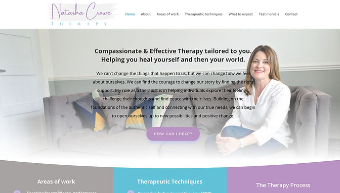 Natasha Crowe Therapy Website _ Brand Co
