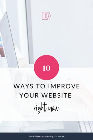 Top 10 ways to improve your website