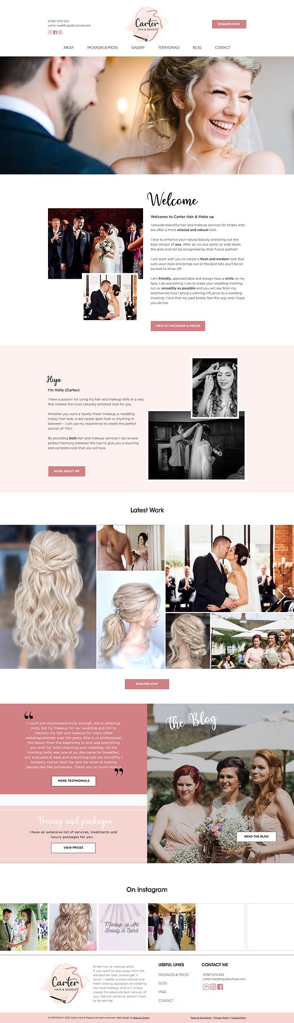 Hair & Makeup Website Design _ Ceramics