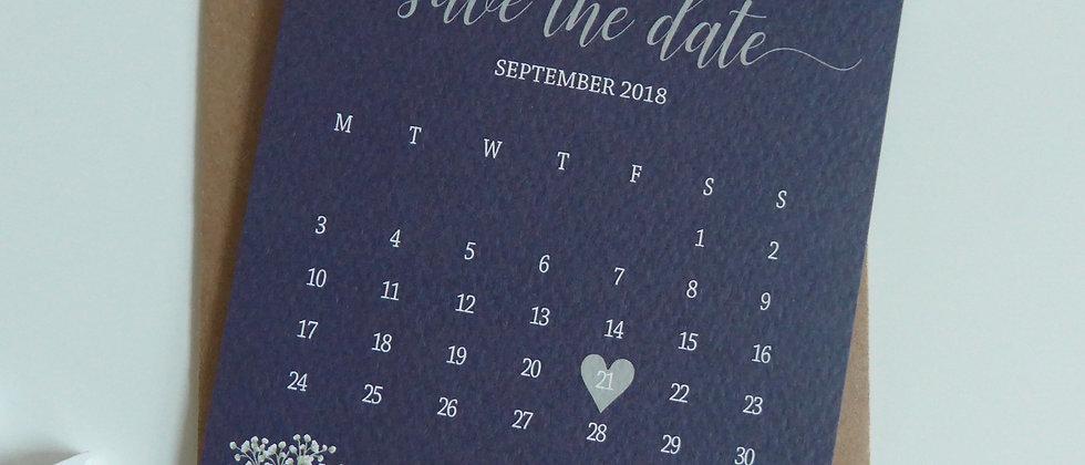 Rustic Calendar Save the Date