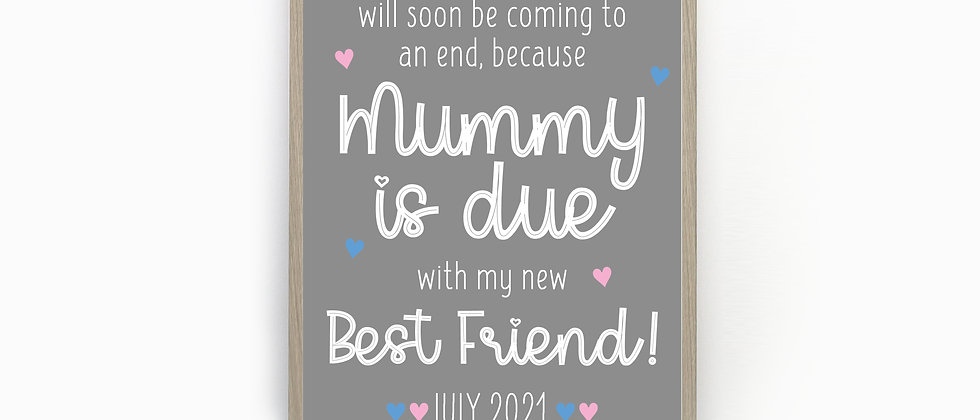 Personalised Pregnancy Announcement Sign