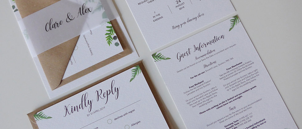 Wedding Invitations - SAMPLE ONLY