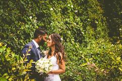 natural wedding waves