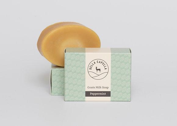 peppermint goats milk soap; goats milk soap; peppermint soap; handmade soap
