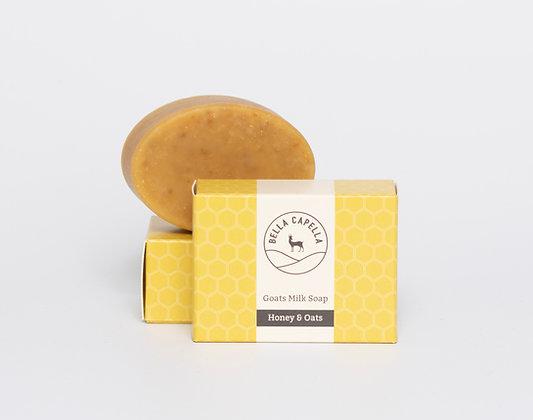 honey & oats goats milk soap; goats milk soap; honey soap; handmade soap
