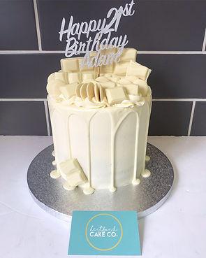 white chocolate overload cake