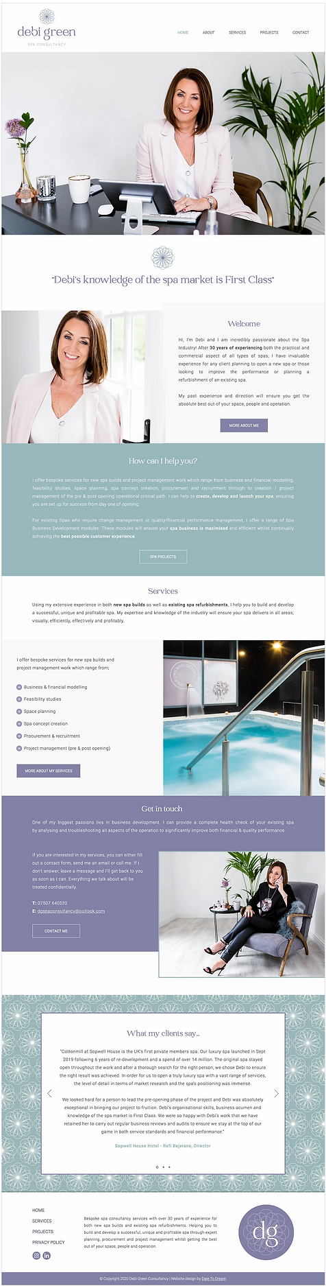 Spa Consultant Website Design _ Website