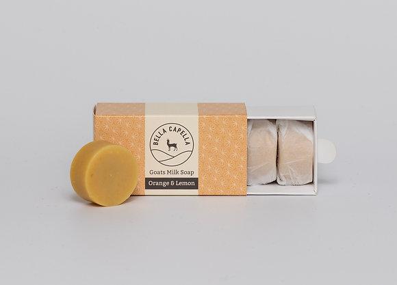 Orange & Lemon Goats Milk Soap | Bella Capella | Goats Milk Soap | Homemade Soap | Natural Soap | Organic Soap