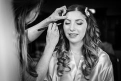 curly half up half down bridal hair