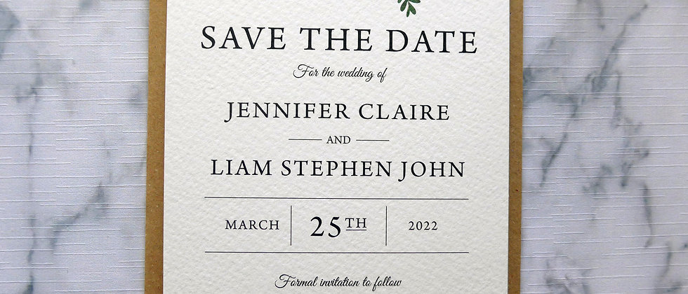 Save The Dates - SAMPLE ONLY