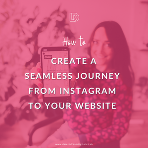 The journey from social media account to website.