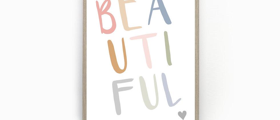 Beautiful print, Dressing Room prints, Inspirational Print, Home Prints, Quote Print, Minimalist Print, Grey, Pink, Blue, Gre