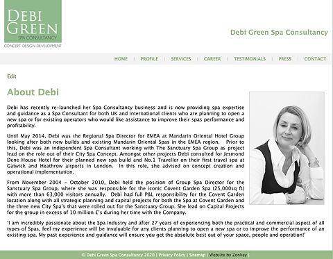 Spa Consultant Website | Brand Marketing