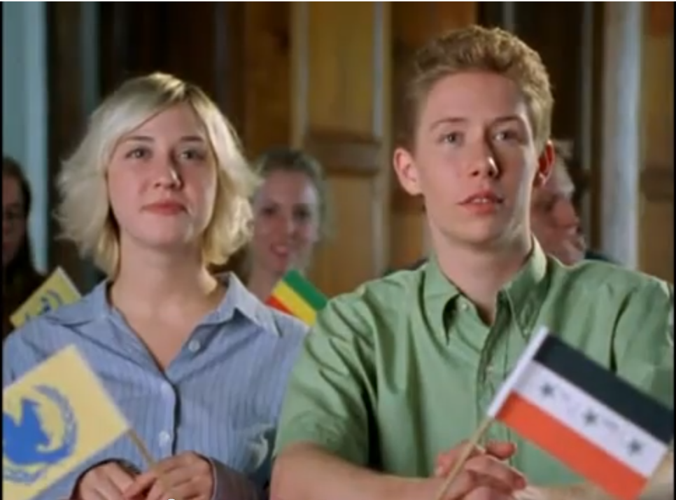 Curtis played a Model UN student in Winning London (2001)