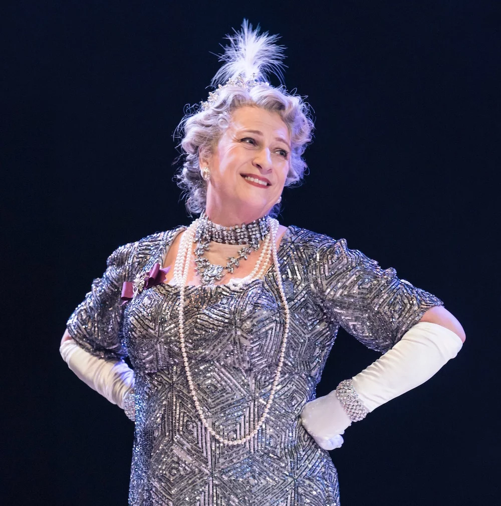 Caroline Quentin as the Duchess in Me and My Girl