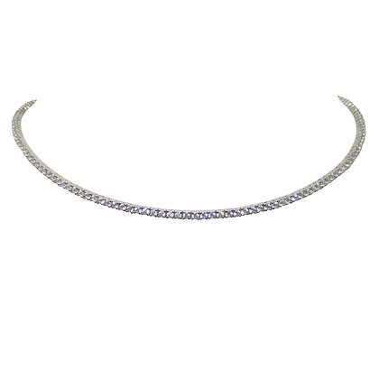 Clear Lab Sapphire Choker Necklace
