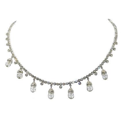 CZ Briolette Crystal Necklace